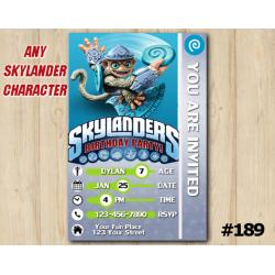 Skylanders Trap Team Game Card Invitation | FlingKong