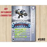 Skylanders Trap Team Game Card Invitation | EyeSmall | Personalized Digital Card