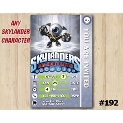 Skylanders Trap Team Game Card Invitation | EyeSmall