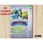 Skylanders Game Card Invitation | Snapshot, FoodFight | Personalized Digital Card