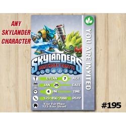 Skylanders Game Card Invitation | Snapshot, FoodFight