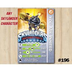 Skylanders Trap Team Game Card Invitation | Countdown