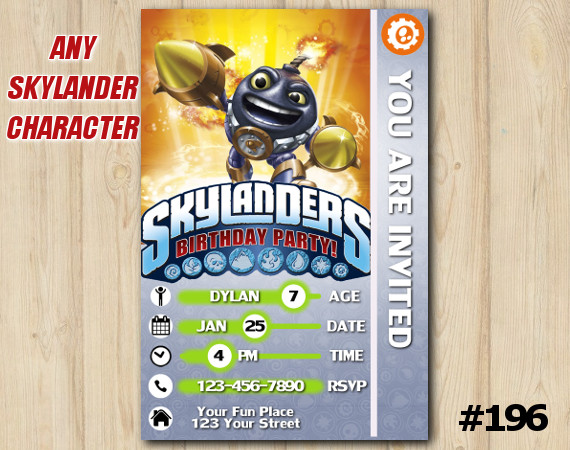 Skylanders Trap Team Game Card Invitation | Countdown | Personalized Digital Card