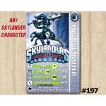 Skylanders Trap Team Game Card Invitation | KnightMare | Personalized Digital Card