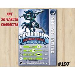 Skylanders Trap Team Game Card Invitation | KnightMare