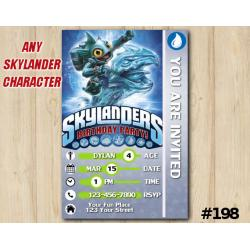 Skylanders Game Card Invitation | GillGrunt