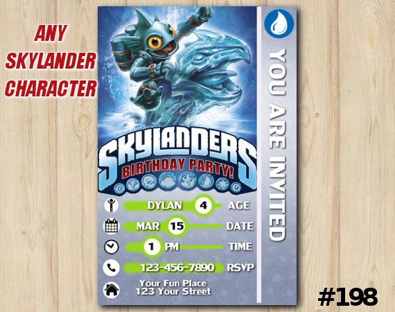 Skylanders Game Card Invitation | GillGrunt | Personalized Digital Card