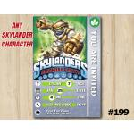 Skylanders Trap Team Game Card Invitation | GrillaDrilla | Personalized Digital Card