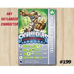 Skylanders Trap Team Game Card Invitation | GrillaDrilla