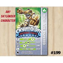 Skylanders Trap Team Game Card Invitation | GrillaDrilla