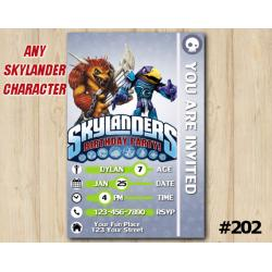 Skylanders Trap Team Game Card Invitation | Wolfgang, JetVac