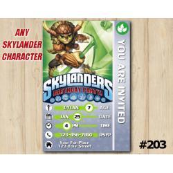 Skylanders Trap Team Game Card Invitation | Bushwhack