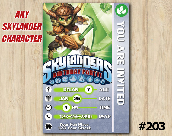 Skylanders Trap Team Game Card Invitation | Bushwhack | Personalized Digital Card