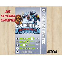 Skylanders Trap Team Game Card Invitation | Wolfgang, NightShift, JetVac