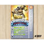 Skylanders Trap Team Game Card Invitation | Jawbreaker | Personalized Digital Card
