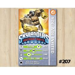 Skylanders Trap Team Game Card Invitation | Jawbreaker