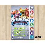 Skylanders Trap Team Game Card Invitation   PainYatta, Wildfire   Personalized Digital Card