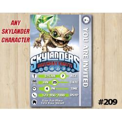 Skylanders Trap Team Game Card Invitation | FunnyBone
