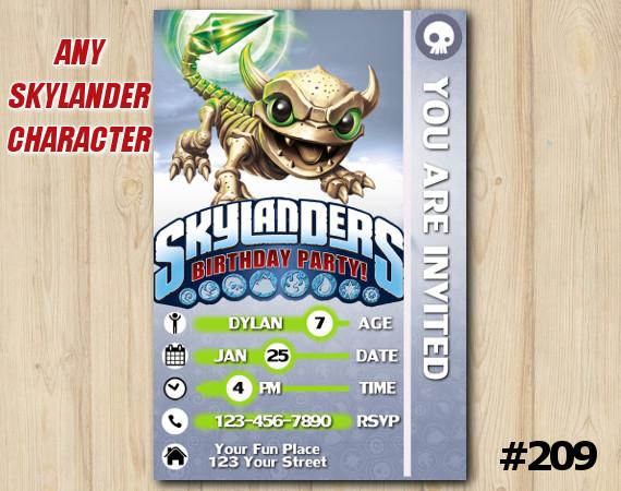 Skylanders Trap Team Game Card Invitation | FunnyBone | Personalized Digital Card