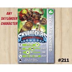 Skylanders Trap Team Game Card Invitation | TreeRex