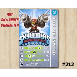 Skylanders Trap Team Game Card Invitation | JetVac