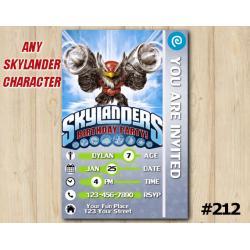 Skylanders Trap Team Game Card Invitation | JetVac