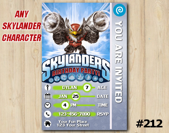 Skylanders Trap Team Game Card Invitation | JetVac | Personalized Digital Card