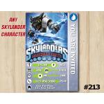 Skylanders Trap Team Game Card Invitation | DarkSnapShot | Personalized Digital Card