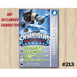 Skylanders Trap Team Game Card Invitation | DarkSnapShot