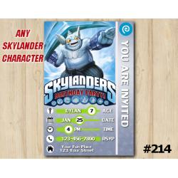 Skylanders Gusto Game Card Invitation | Gusto