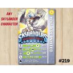 Skylanders Trap Team Game Card Invitation | KnightLight | Personalized Digital Card