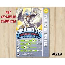 Skylanders Trap Team Game Card Invitation | KnightLight