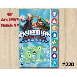 Skylanders Trap Team Game Card Invitation | Kaos, TreadHead