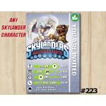 Skylanders Trap Team Game Card Invitation | KnightLight, BobMini | Personalized Digital Card