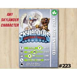 Skylanders Trap Team Game Card Invitation | KnightLight, BobMini