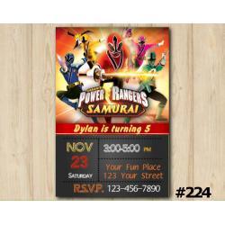 Power Ranger Samurai Invitation