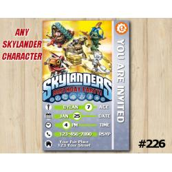 Skylanders Trap Team Game Card Invitation | TreadHead, Jawbreaker, Choopper, Gearshift