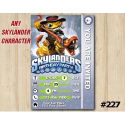 Skylanders Swap Force Game Card Invitation | RattleShake