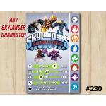Skylanders Trap Team Game Card Invitation | Personalized Digital Card