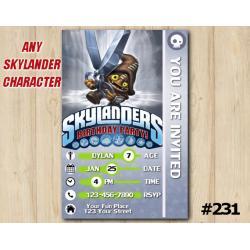Skylanders Trap Team Game Card Invitation | ShotCut