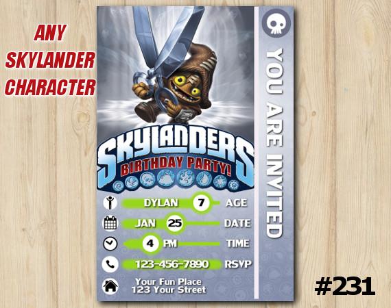 Skylanders Trap Team Game Card Invitation | ShotCut | Personalized Digital Card