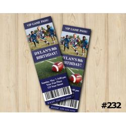 Football Ticket Invitation with Photo