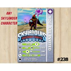 Skylanders Trap Team Game Card Invitation | Enigma
