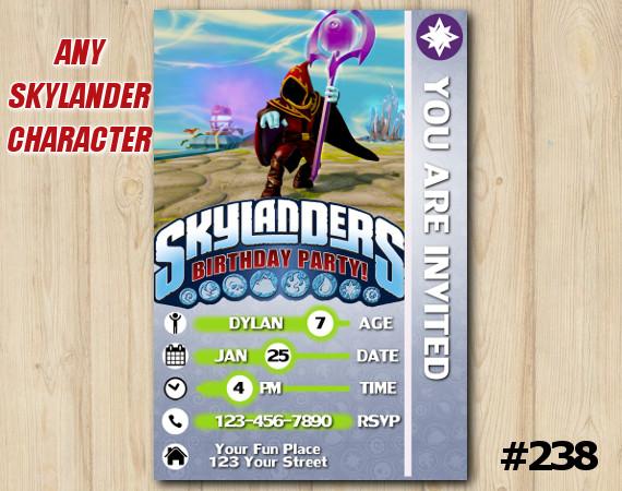 Skylanders Trap Team Game Card Invitation | Enigma | Personalized Digital Card