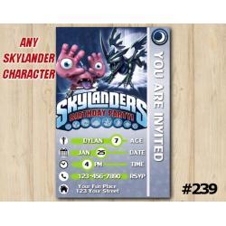 Skylanders Trap Team Game Card Invitation