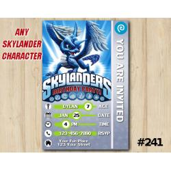 Skylanders Trap Team Game Card Invitation | Whirlwind