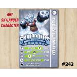 Skylanders Swap Force Game Card Invitation | NightShift | Personalized Digital Card
