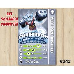 Skylanders Swap Force Game Card Invitation | NightShift