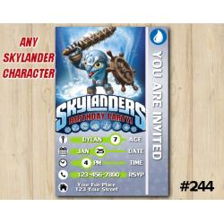 Skylanders Trap Team Game Card Invitation | FlipWreck