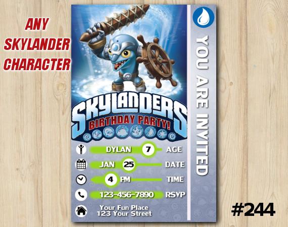 Skylanders Trap Team Game Card Invitation | FlipWreck | Personalized Digital Card